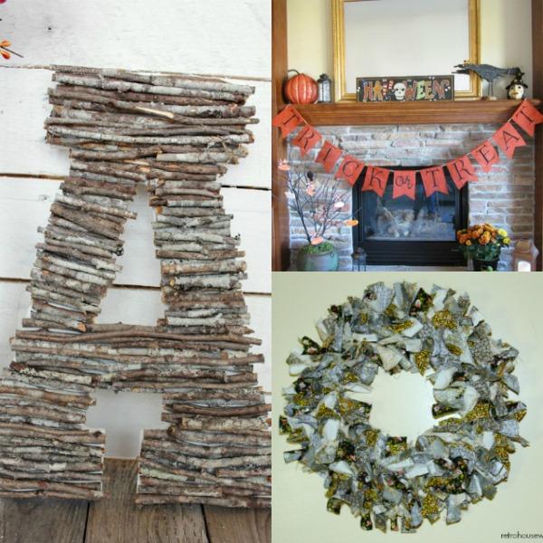 Fall decor, DIY fall decor, frugal fall decor, cheap fall decor, autumn decor