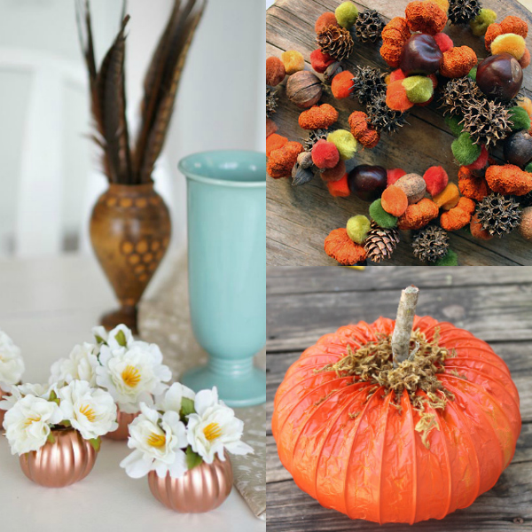 Fall decor, DIY fall decor, frugal fall decor, cheap fall decor, autumn decor
