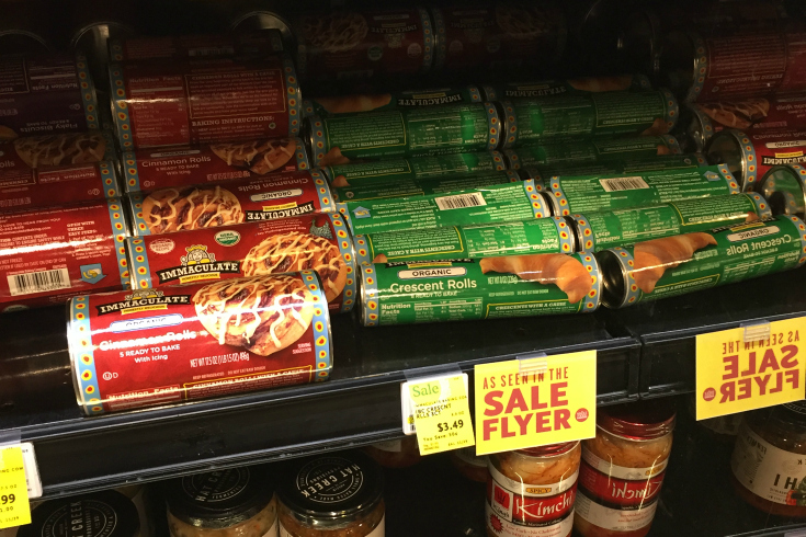 Immaculate Baking Company organic crescent rolls at Whole Foods