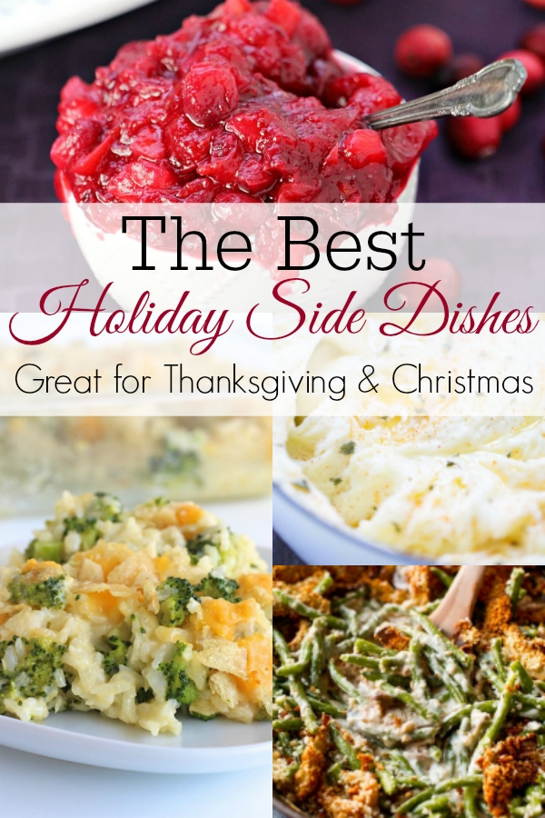 collage of holiday side dish