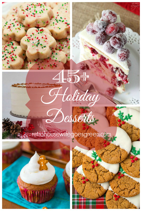 Homemade holiday desserts