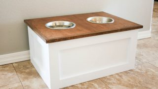 Dog Food Station with Storage