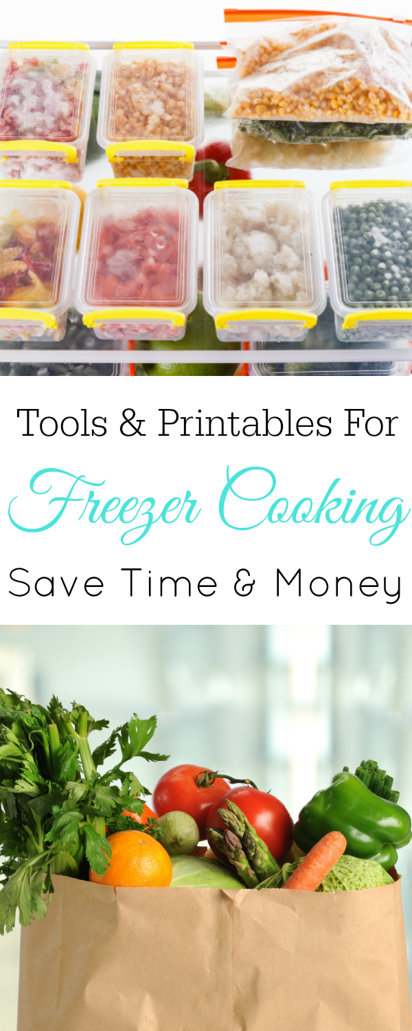 Tools and Free Printables for Freezer Cooking, meal planning #freezercooking #frugal