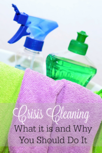 It's hard to get motivated to clean your messy home. Crisis cleaning is a good way to get it back in order quickly.