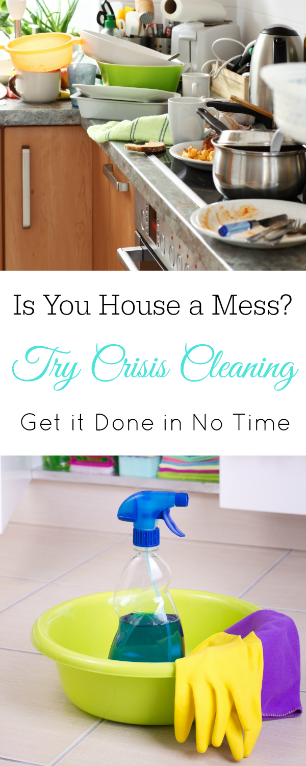 Messy house? Try Crisis Cleaning. Speed Cleaning, Cleaning Tips #Cleaning #CleaningTips