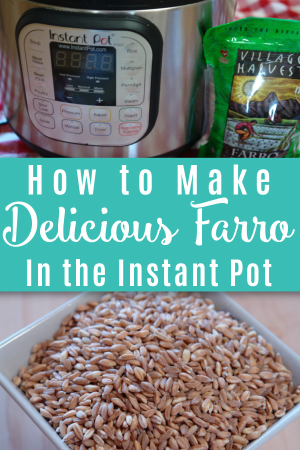 instant pot with farro