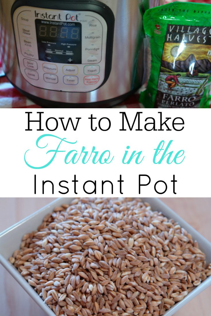 Have you tried farro? It's a delicious high protein grain and simple to make in the Instant Pot. #InstantPot #Farro