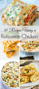 Rotisserie chickens are a really easy and affordable way to make lots of meals. I love all of these ideas using a rotisserie chicken.