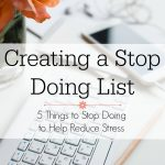Creating a Stop Doing List
