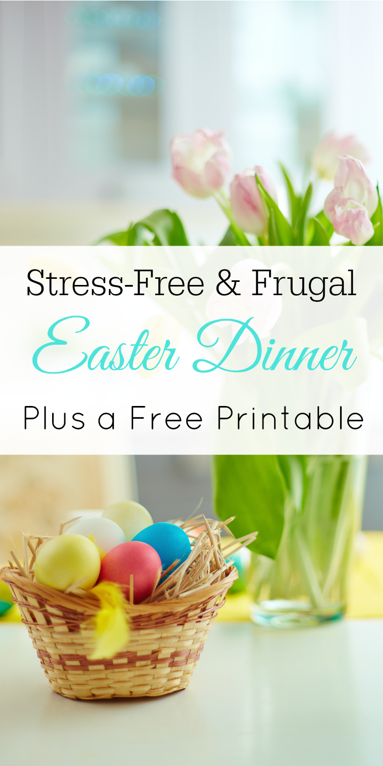 Stress-Free and Frugal Easter Dinner, Free Printable Easter Dinner Menu Planner #printable #easter
