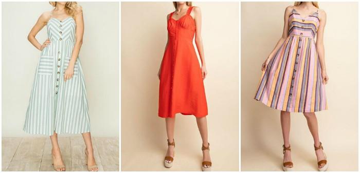 collage of Le Bomb Shop dresses