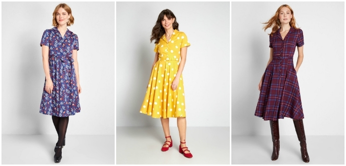 collage of ModCloth dresses