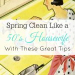 Spring Cleaning Tips from 50's Housewives