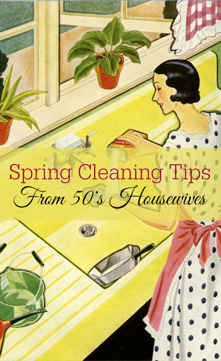 Spring Cleaning Tips, 50's Housewife, Retro Housewife