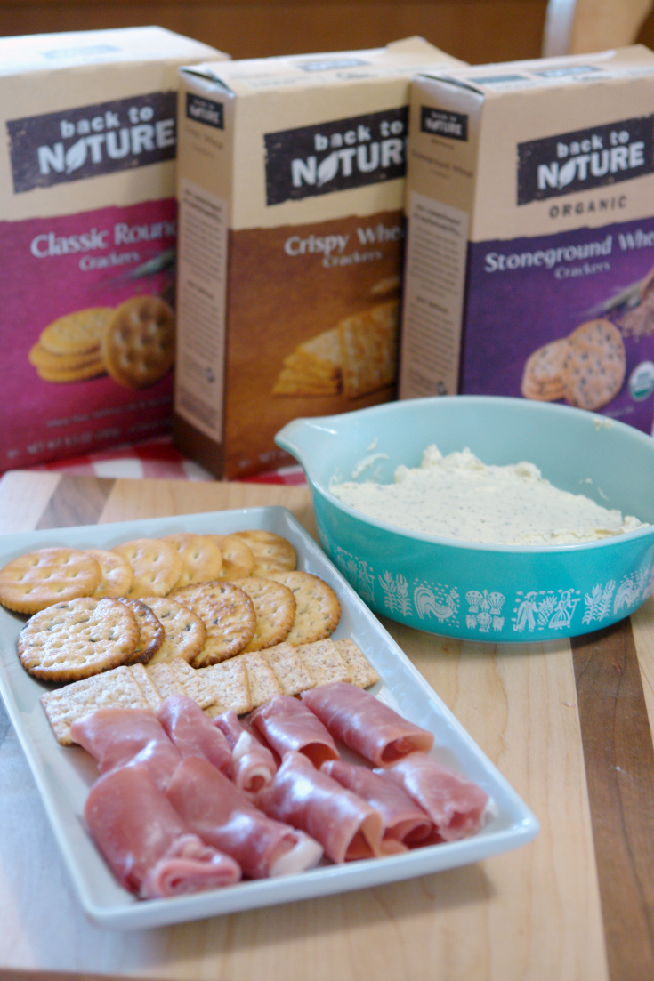 Vintage Inspired Garlic herb cream cheese spread #sponsored