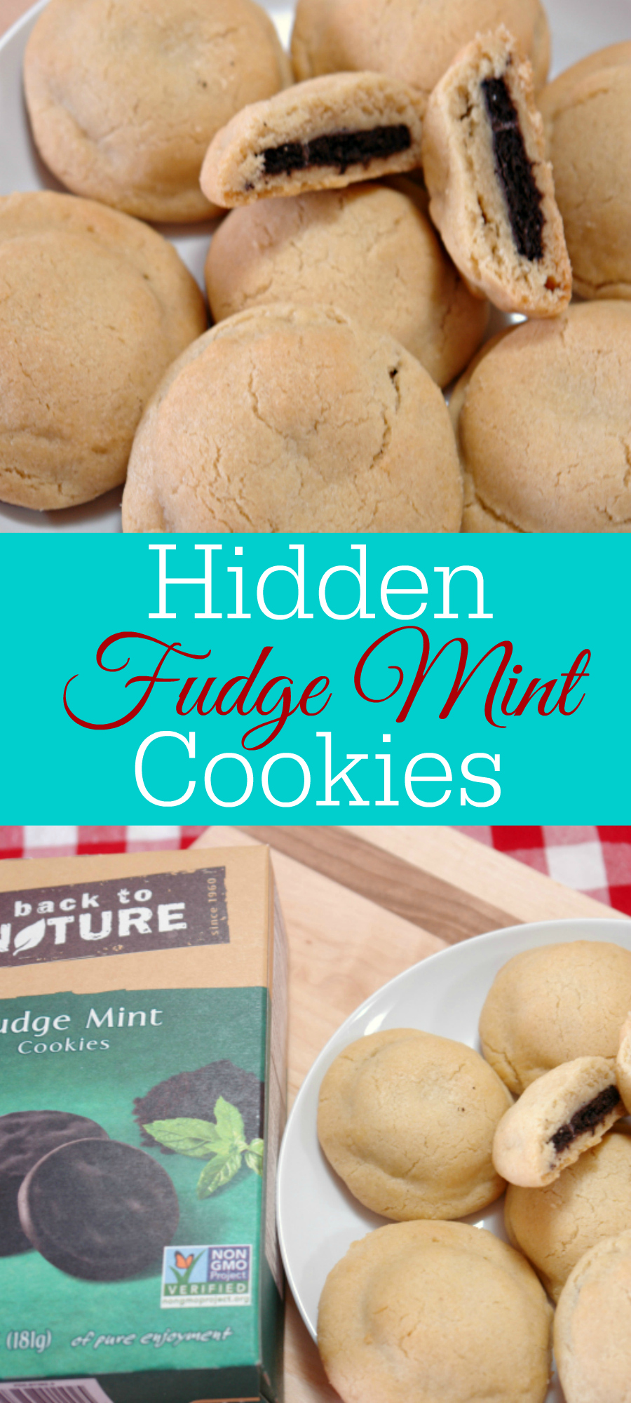 Sugar cookies are great but even better are these hidden mint cookies. A sugar cookie on the outside with a fudge mint cookie hidden inside.Featuring @Back to Nature Foods Fudge Mint Cookies. #sponsored @Mambo Sprouts