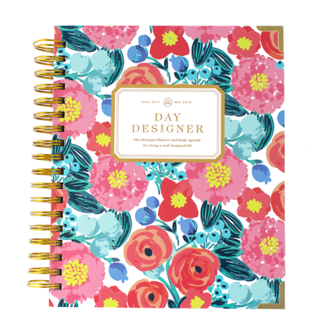 bright colored floral Day Designer