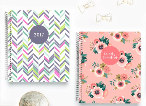 Plum Paper Planners in floral and a colorful design
