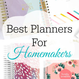 Best planners for homemakers with prices, happy planner, erin condren, sugar paper, inkwell press, blue sky planner, day designer, living well planner, passion planner, limelife planner