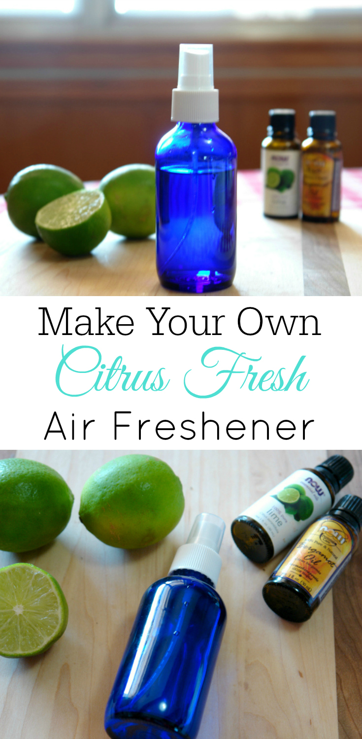 Citrus Fresh Air Freshener, DIY air freshener, room spray, bergamot, lime, essential oils