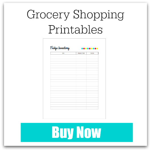 Grocery Shopping Printables