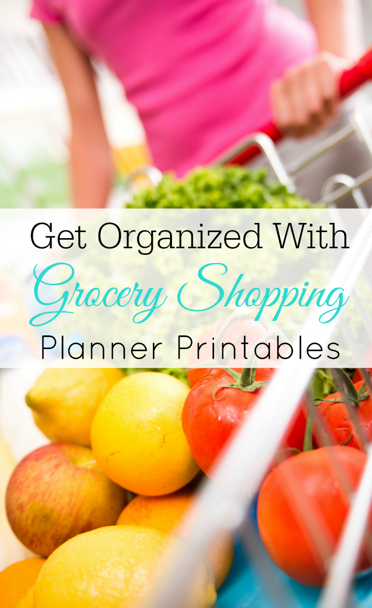 Get organized with the Grocery Shopping Planner Printables, menu planning, inventory, shopping list