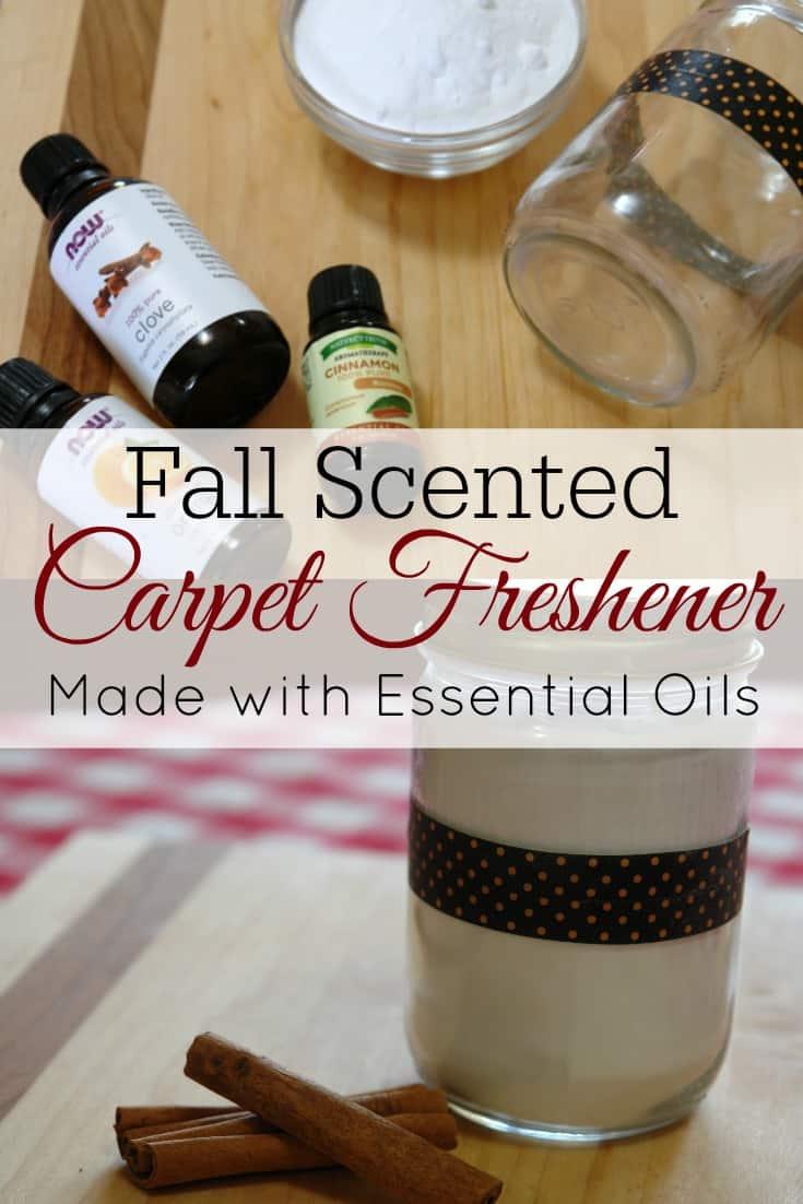 carpet deodorizer in mason jar with essential oils