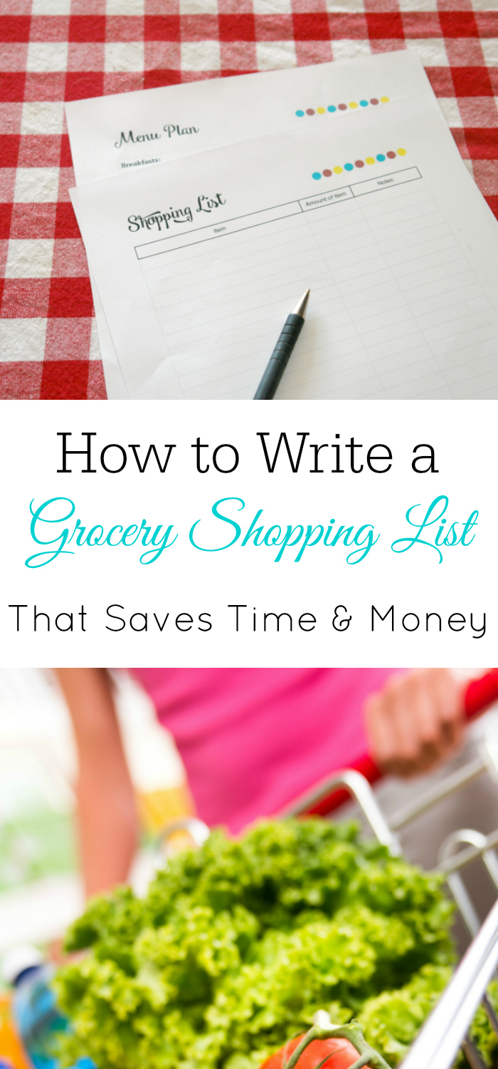 How to Save Money With Your Grocery Shopping List, write a shopping list, meal planning, grocery shopping, printables, budget grocery shopping