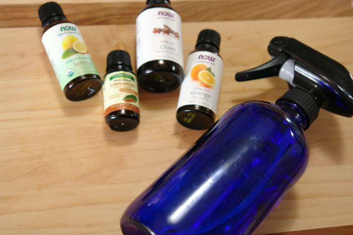 Natural disinfectant spray supplies