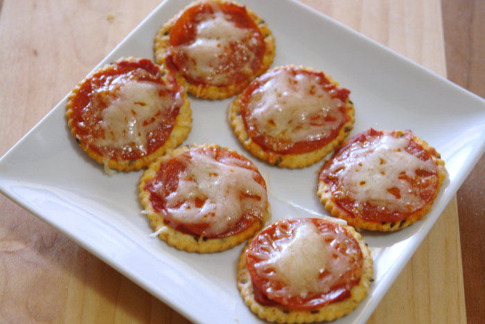 pizza bites on white plate