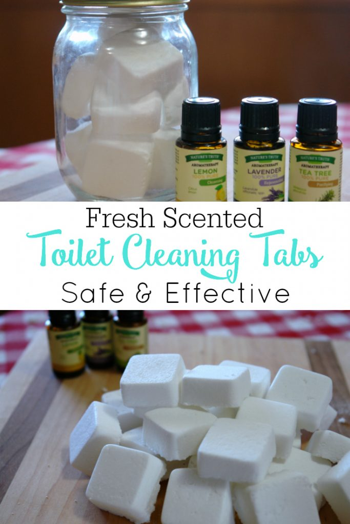 pictures of toilet cleaning tabs and essential oils