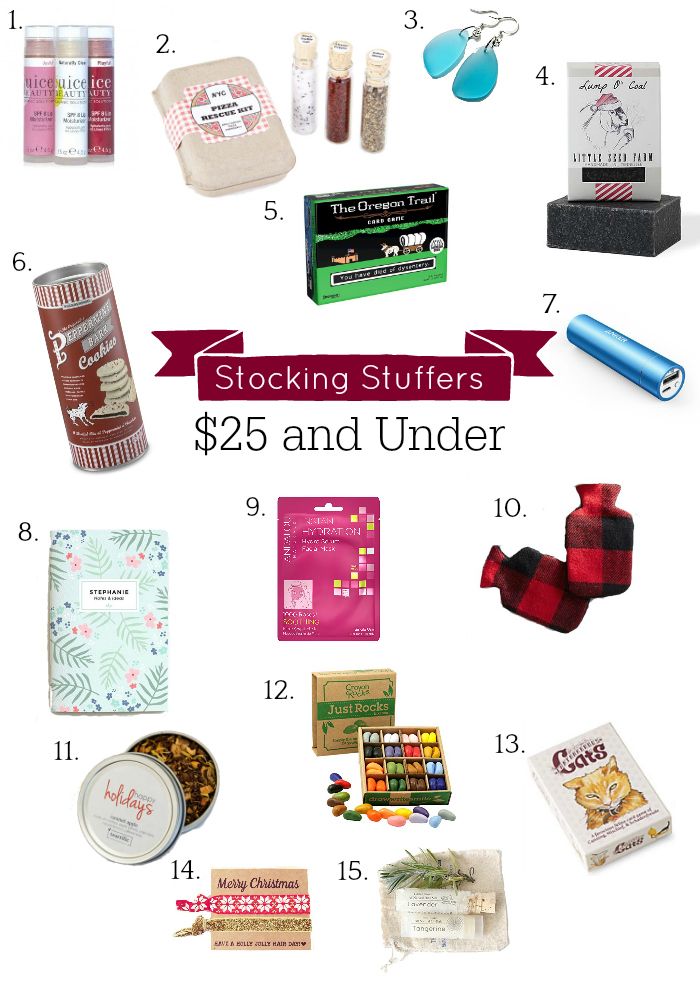 Holiday Gift Guide Stocking Stuffers, Gifts Under $25
