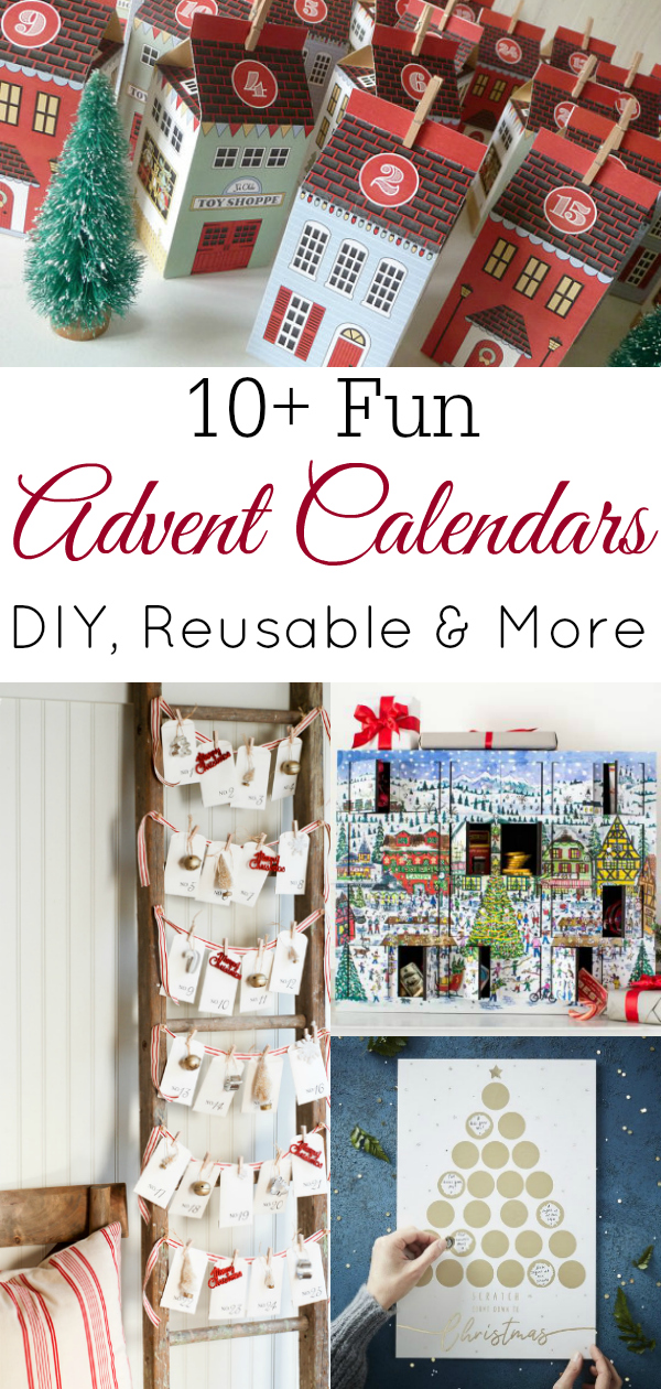 collage of advent calendars