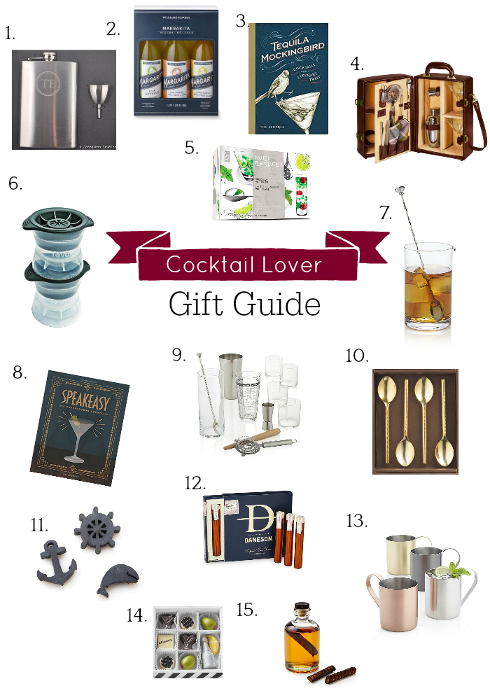Cocktail Lover Gift Guide, Holiday Gift Guide, Cocktail Themed Gifts, Cocktail Accessories