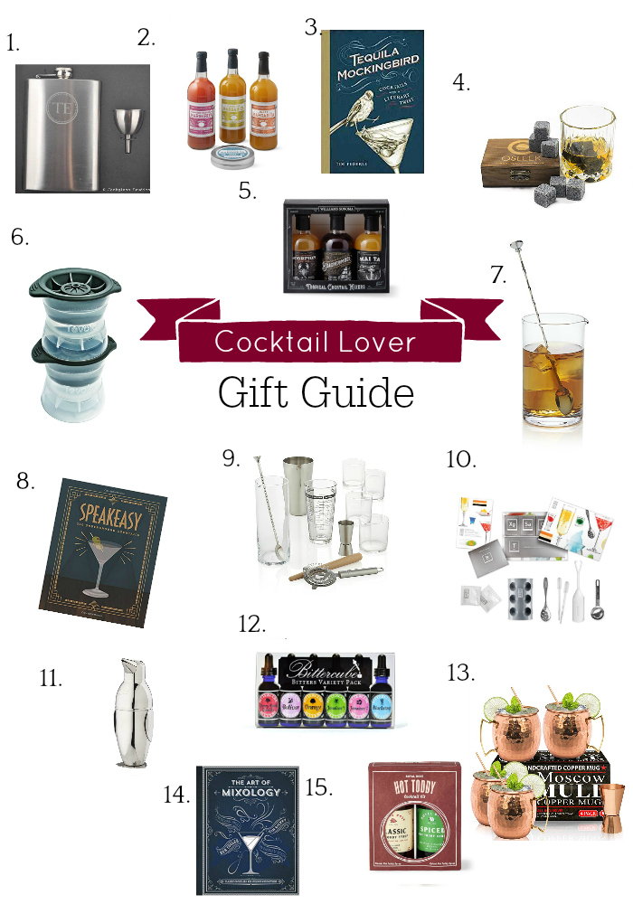 collage of cocktail gifts
