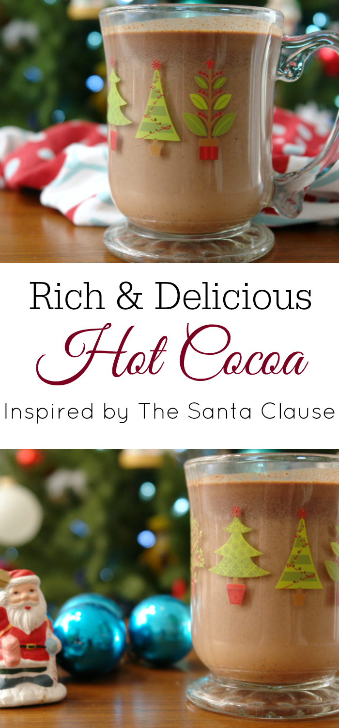 collage of hot chocolate in christmas mugs