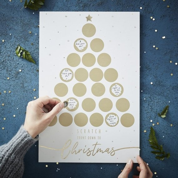 scratch off Christmas advent calendar