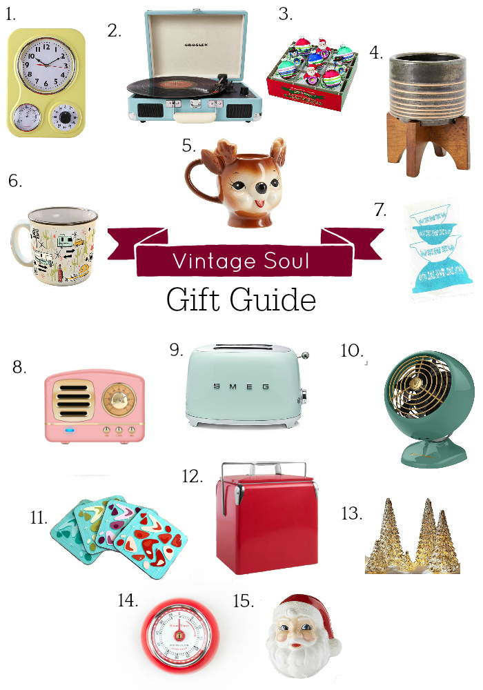 collage of vintage gift guide