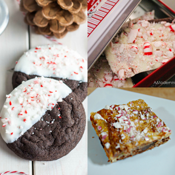 collage of peppermint recipes
