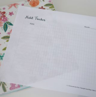 Creating New Habits- Free Printable Habit Tracker #freeprintable #goals