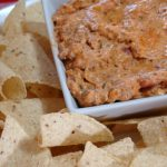 (ad) Easy Taco Queso Dip, party recipe, easy dip #timetocrunch