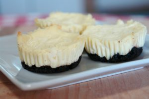 Mini Mint Cheesecakes