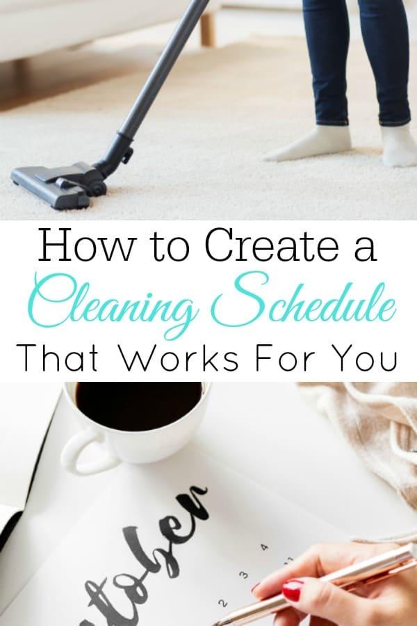 woman vacuuming and woman writing on calendar