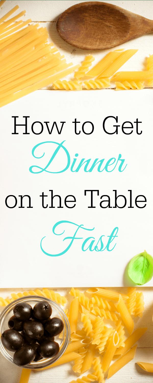 How to Get Dinner on the Table Fast, easy dinner, freezer cooking, meal planning, instant pot #dinner #fastdinner #instantpot