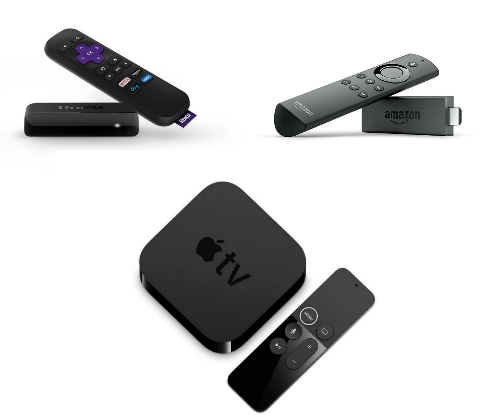 photo of apple tv and other stream devices