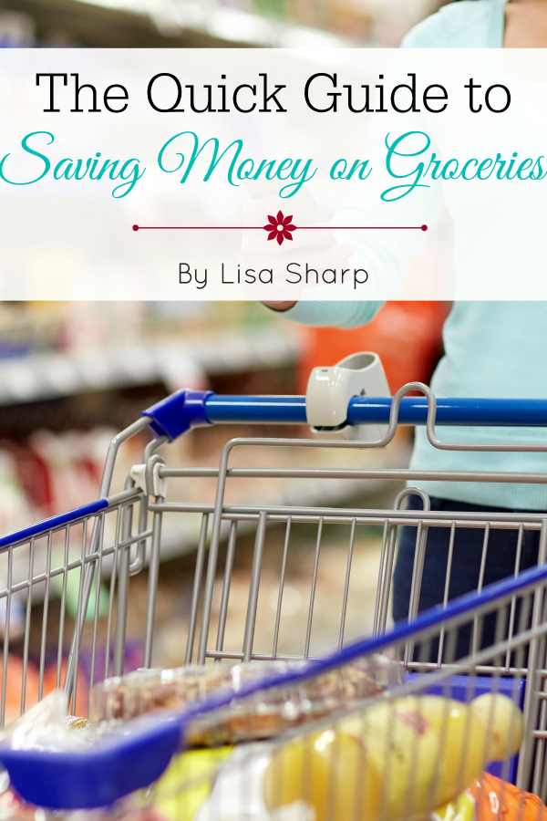 Save up to half on your grocery budget with the Quick Guide to Saving Money on Groceries #frugal