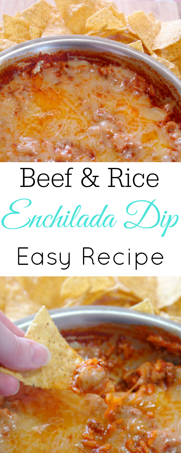 (ad) Beef and Rice Enchilada Dip, Easy and quick dip, Mexican appetizer #MahatmaRice