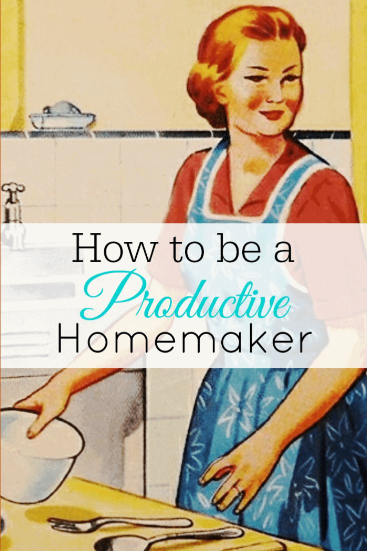 Vintage housewife cooking