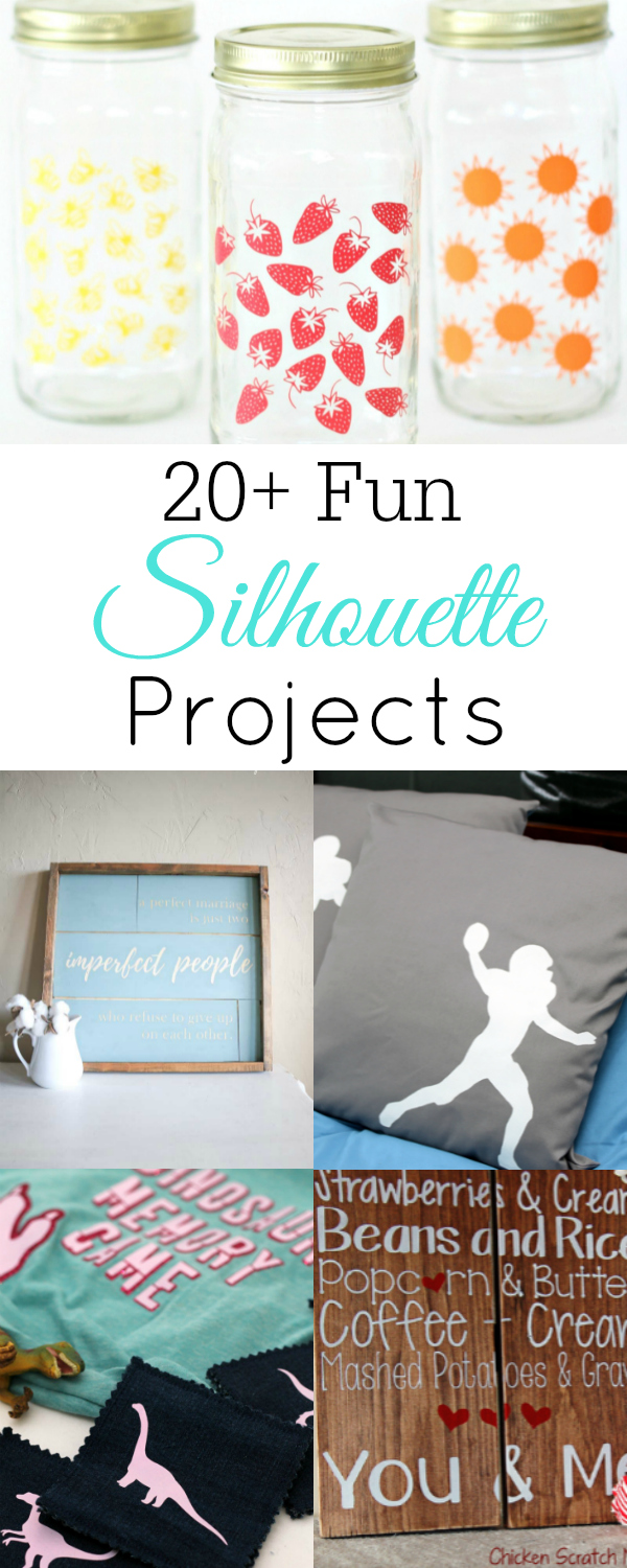 Fun Silhouette Crafts, Crafts using a Silhouette #Silhouette #Circut