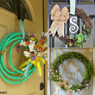 DIY Spring Wreaths, Spring Wreath, Homemade Wreath #crafts